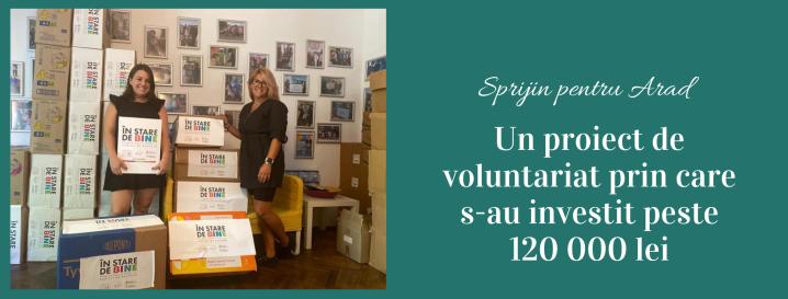 """""""Sprijin pentru Arad"""" – Un proiect de voluntariat prin care s-au investit peste 120 000lei"""
